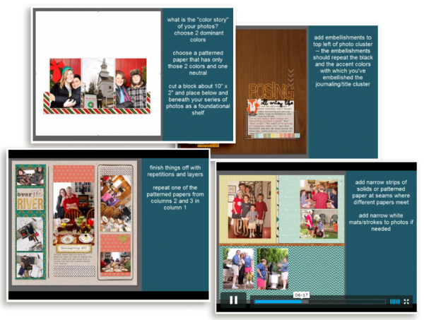 New Scrapbook Coach Video Tutorials for Designing with Threes