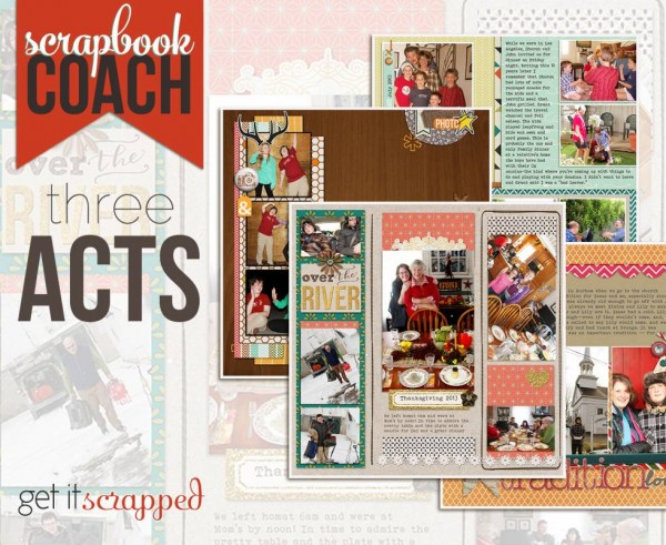 New Scrapbook Coach Video Tutorials for Desiging with Threes