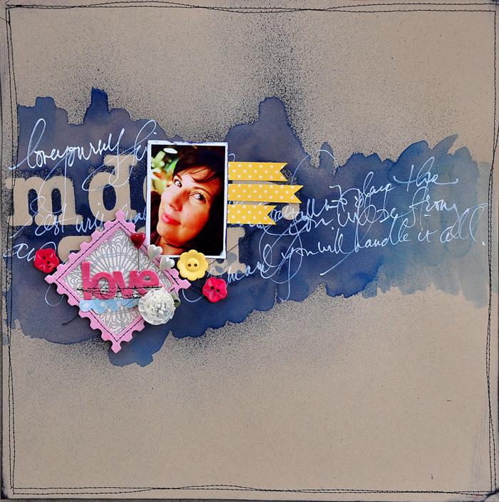 5 Fun Ways to Use Paint and Ink as a Scrapbook Page Foundation   Get It Scrapped