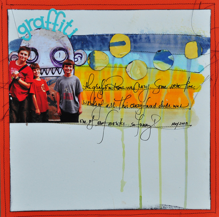 5 Fun Ways to Use Paint and Ink as a Scrapbook Page Foundation | Get It Scrapped