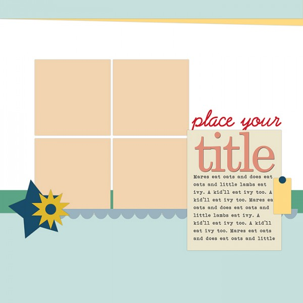9 Ideas for Using Scrapbook Page Templates and Sketches to Make Them Your Own | Get It Scrapped