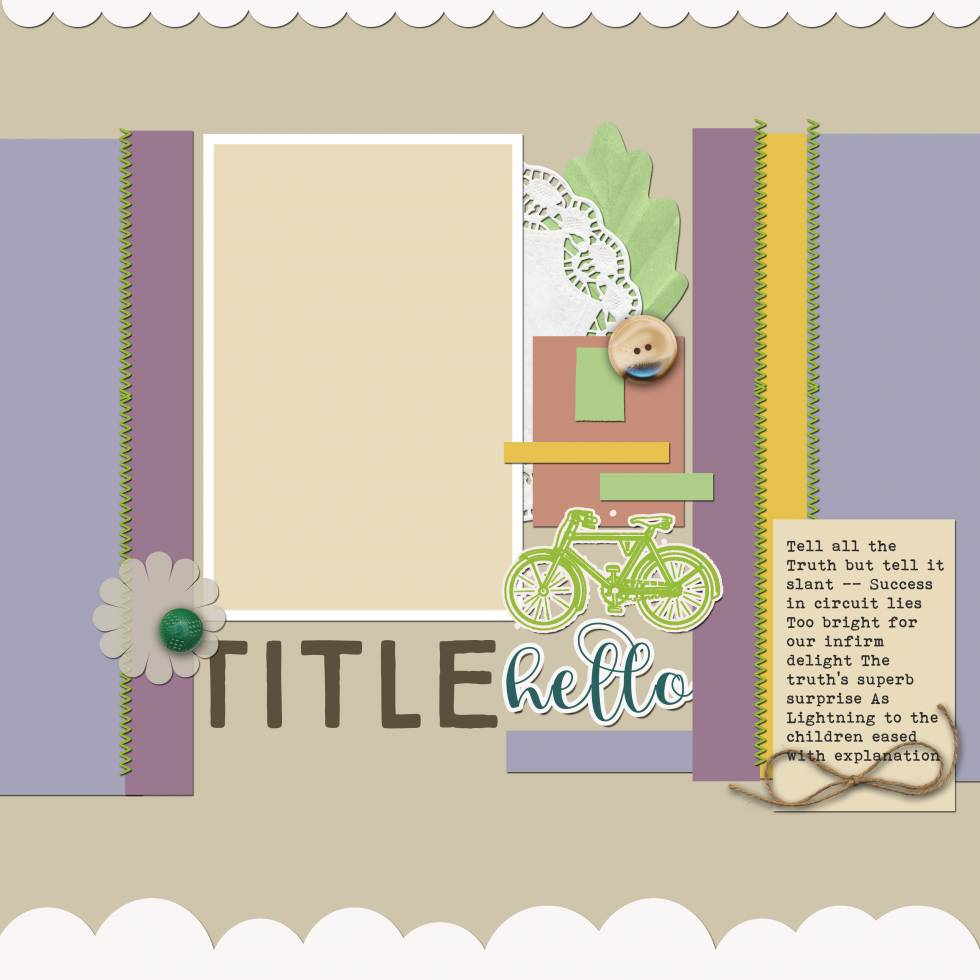 Scrapbook Coach 23 Strips | Layout 2