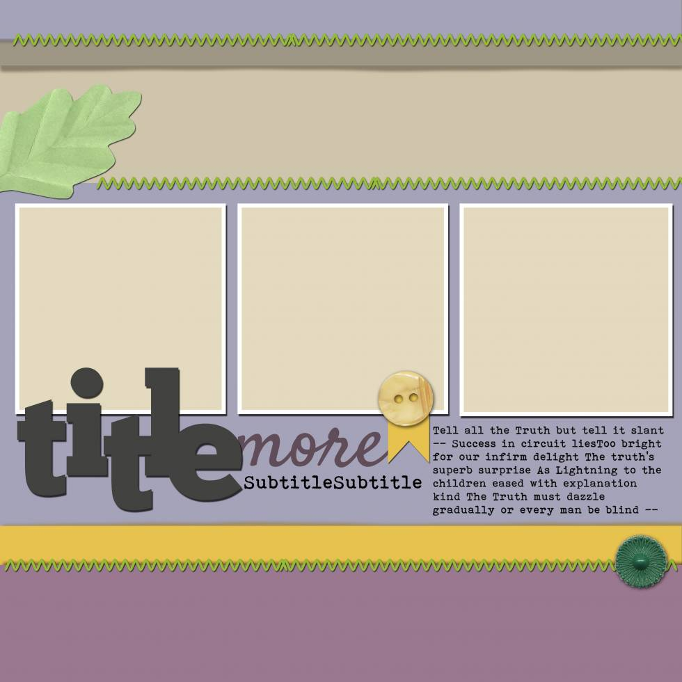 Scrapbook Coach 23 Strips | Layout 3
