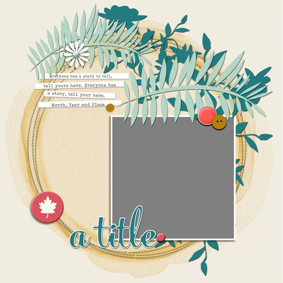 Scrapbook Coach 24 Circles | Layout 3