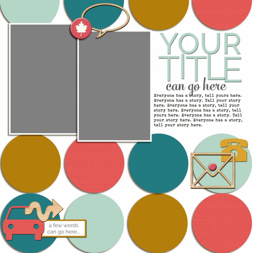 Scrapbook Coach 24 Circles | Layout 4