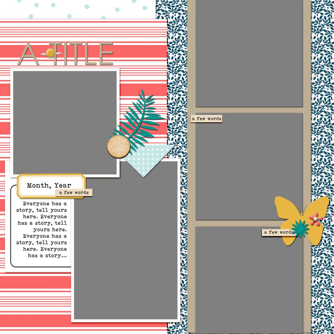 Scrapbook Coach 25 Columns | Layout 3
